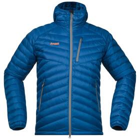 Bergans M's Slingsbytind Down Jacket w/Hood Ocean/Solid Grey/Pumpkin